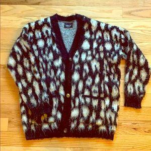 Zara leopard wool cardigan